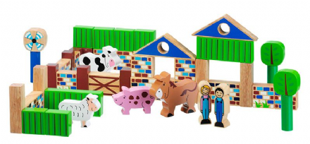 Lanka Kade Wooden Building Blocks - Farm
